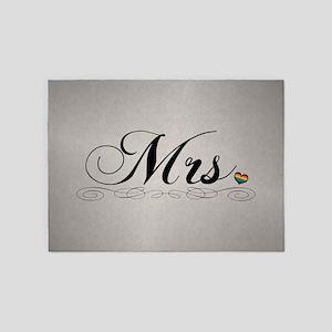Mrs. Lesbian Design 5'x7'Area Rug