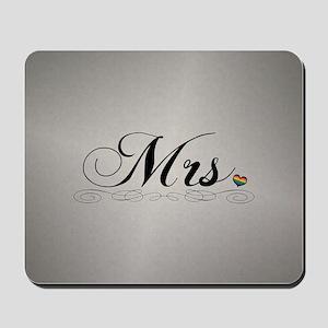 Mrs. Lesbian Design Mousepad