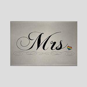Mrs. Lesbian Design Rectangle Magnet