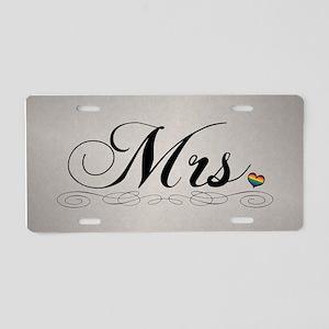 Mrs. Lesbian Design Aluminum License Plate
