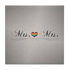 Mrs. & Mrs. Lesbian Design Tile Coaster