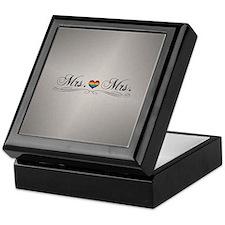 Mrs. & Mrs. Lesbian Design Keepsake Box