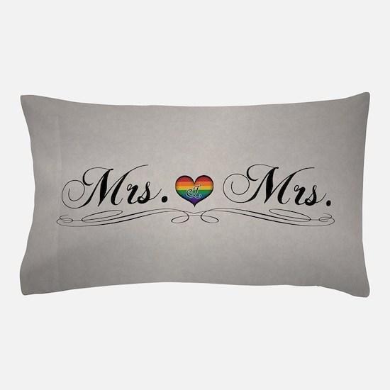 Mrs. & Mrs. Lesbian Design Pillow Case