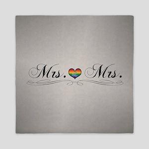 Mrs. & Mrs. Lesbian Design Queen Duvet