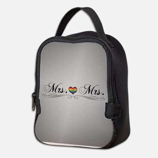 Mrs. & Mrs. Lesbian Design Neoprene Lunch Bag