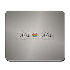 Mrs. & Mrs. Lesbian Design Mousepad