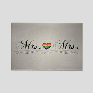 Mrs. & Mrs. Lesbian Design Rectangle Magnet