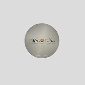 Mrs. & Mrs. Lesbian Design Mini Button