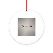 Mrs. & Mrs. Lesbian Design Round Ornament