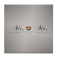 Mr. & Mr. Gay Design Tile Coaster