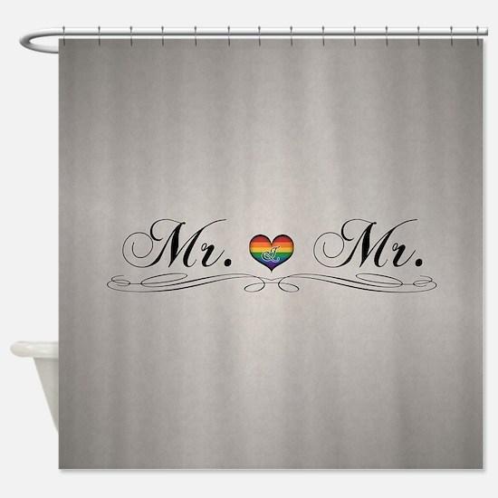 Mr. & Mr. Gay Design Shower Curtain