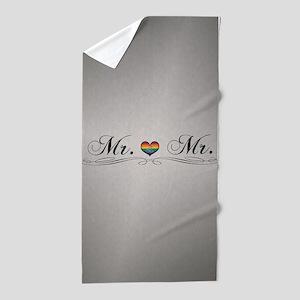Mr. & Mr. Gay Design Beach Towel