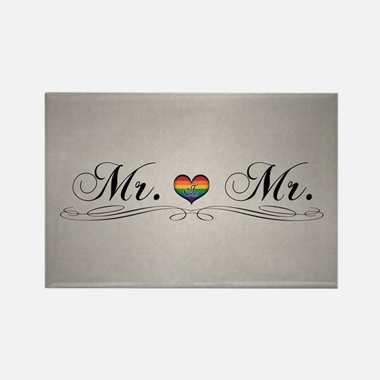 Mr. & Mr. Gay Design Rectangle Magnet (10 pack)