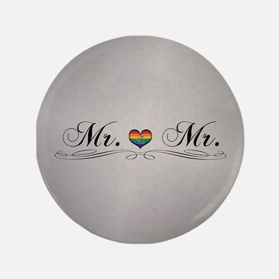 Mr. & Mr. Gay Design Button