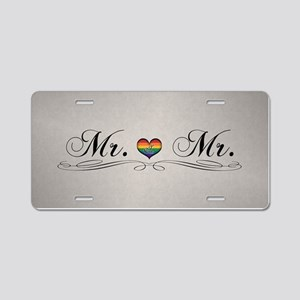 Mr. & Mr. Gay Design Aluminum License Plate
