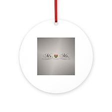 Mr. & Mr. Gay Design Round Ornament