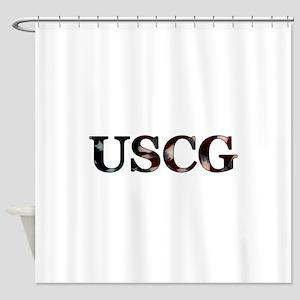 USCG_flag copy Shower Curtain