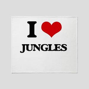 I Love Jungles Throw Blanket