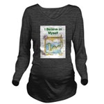Nessie Believe Long Sleeve Maternity T-Shirt