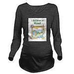 Nessie Believe Long Sleeve Maternity T-Shirt