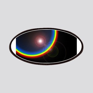 Black Rainbow Flare Patches