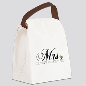 Mrs. Lesbian Design Canvas Lunch Bag