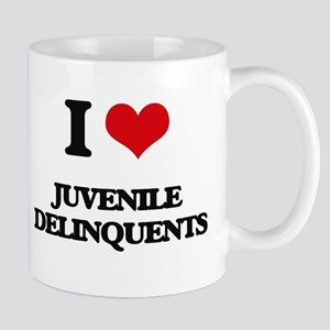I Love Juvenile Delinquents Mugs