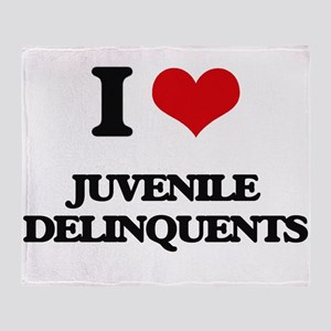 I Love Juvenile Delinquents Throw Blanket