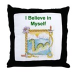 Nessie Believe Throw Pillow