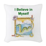 Nessie Believe Woven Throw Pillow
