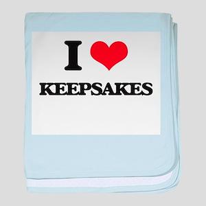 I Love Keepsakes baby blanket