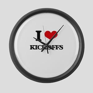I Love Kickoffs Large Wall Clock