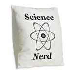 Science Nerd Burlap Throw Pillow