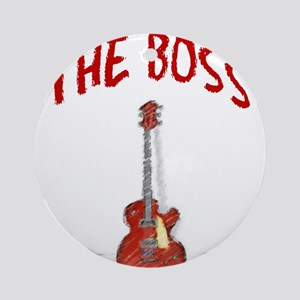 The Boss, Guitar Ornament (Round)