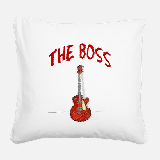 The Boss, Guitar Square Canvas Pillow