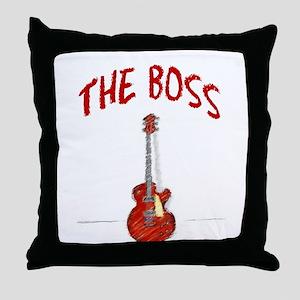 The Boss, Guitar Throw Pillow