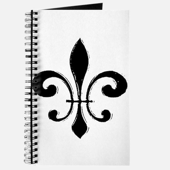 Black Fleur De Lis Journal