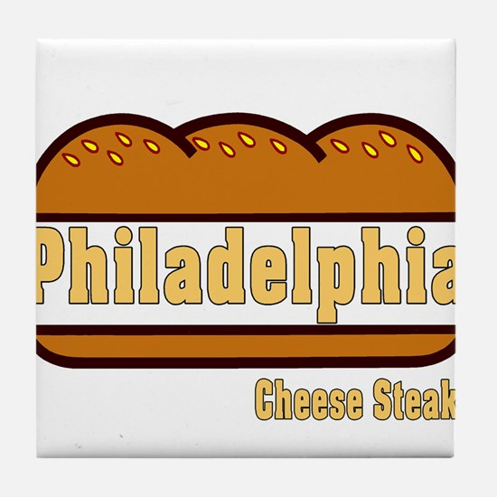 philly cheese steak Tile Coaster