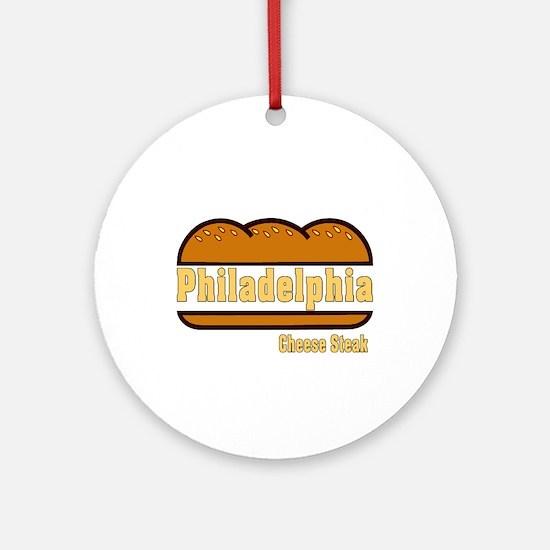 philly cheese steak Ornament (Round)