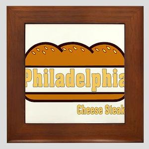 philly cheese steak Framed Tile