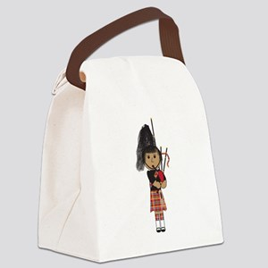 Bagpiper Canvas Lunch Bag