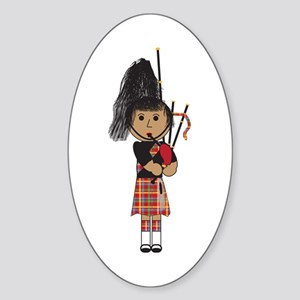 Bagpiper Sticker (Oval)