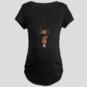 Bagpiper Maternity Dark T-Shirt