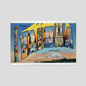 Tacoma Washington Greetings Rectangle Magnet