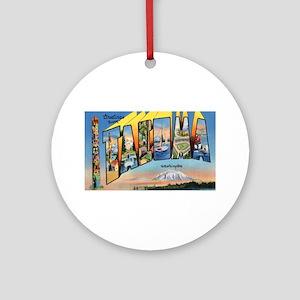 Tacoma Washington Greetings Ornament (Round)