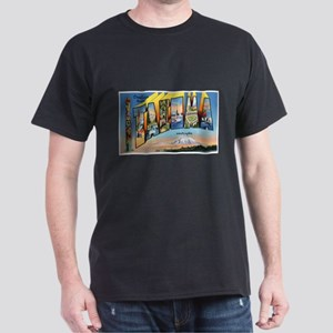 Tacoma Washington Greetings (Front) Dark T-Shirt