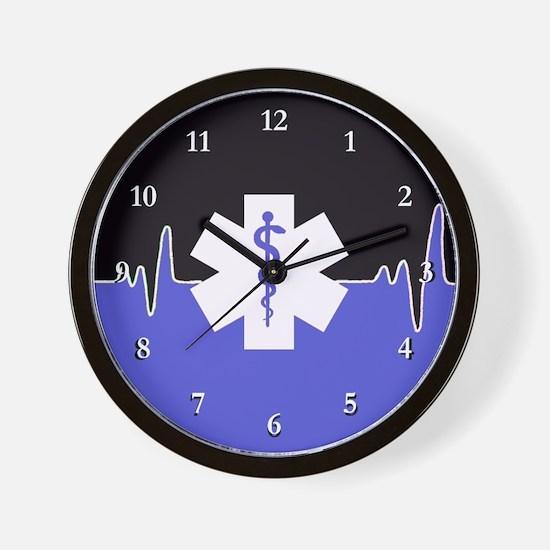 Blue Emergency Medical Wall Clock