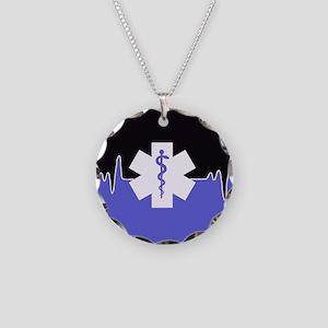 Blue Emergency Medical Necklace