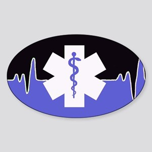 Blue Emergency Medical Sticker