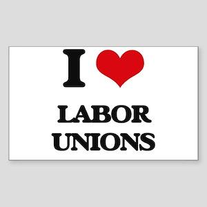 I Love Labor Unions Sticker